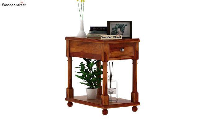 Derek Chair Side End Table (Honey Finish)-1