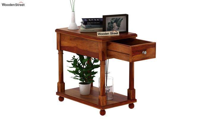 Derek Chair Side End Table (Honey Finish)-4
