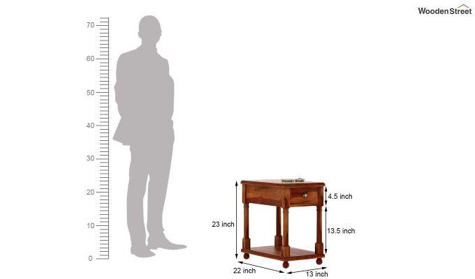 Derek Chair Side End Table (Honey Finish)-5