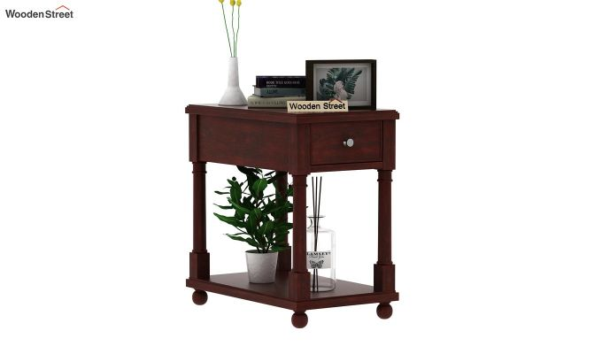 Derek Chair Side End Table (Mahogany Finish)-1