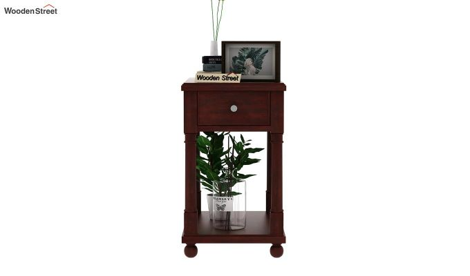 Derek Chair Side End Table (Mahogany Finish)-2