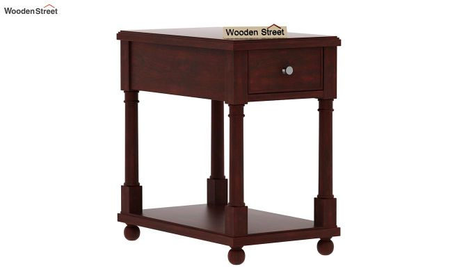 Derek Chair Side End Table (Mahogany Finish)-3