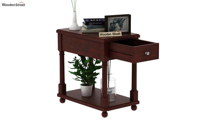 Derek Chair Side End Table (Mahogany Finish)-4