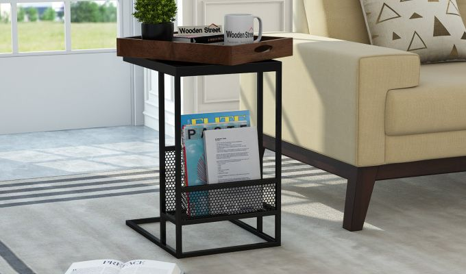 Chester End Table (Walnut Finish)-4
