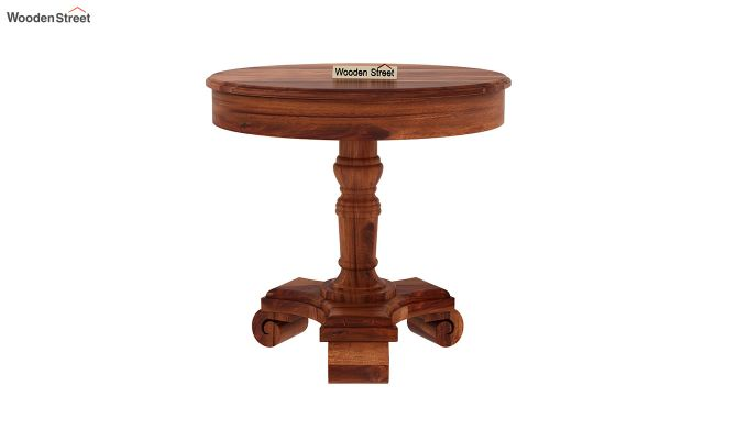Dome Round End Table (Honey Finish)-2