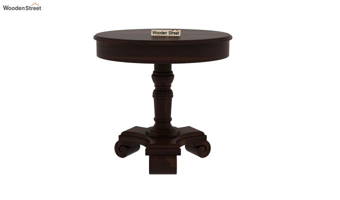Dome Round End Table (Walnut Finish)-2