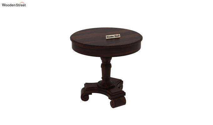 Dome Round End Table (Walnut Finish)-3