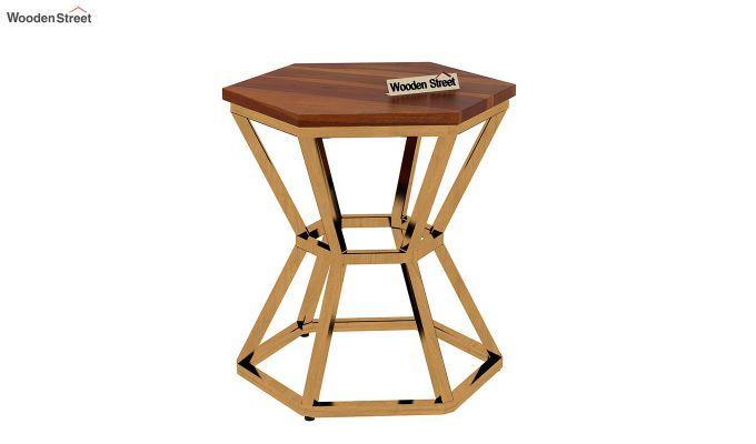 Drome Side End Table (Honey Finish)-4