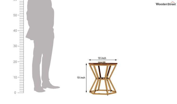 Drome Side End Table (Honey Finish)-5