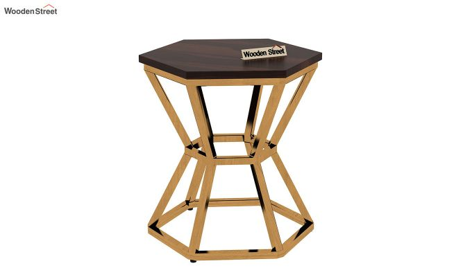 Drome Side End Table (Walnut Finish)-4