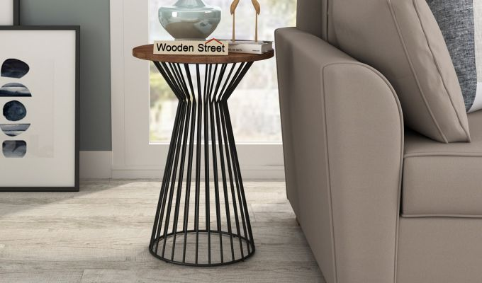 Durby 22 inch End Table (Teak Finish)-1