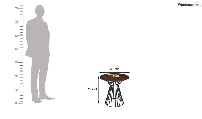 Durby 20 inch End Table (Walnut Finish)-3
