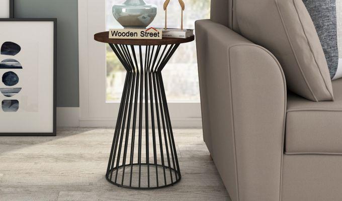 Durby 22 inch End Table (Walnut Finish)-1