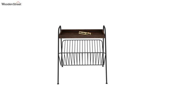 Ebony Side End Table with Shelf (Walnut Finish)-3
