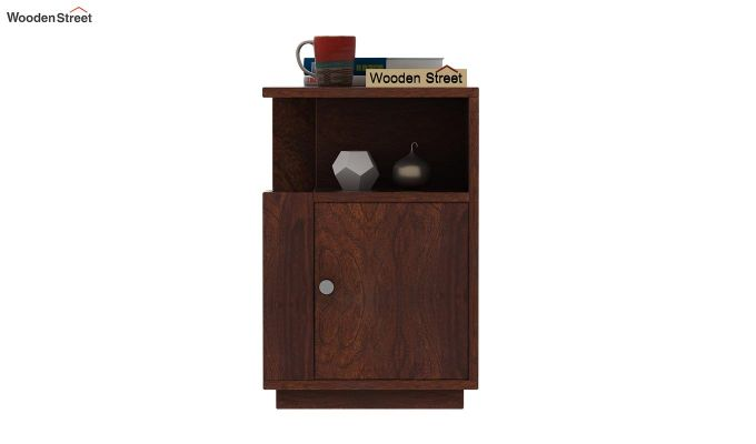 Gruzis Side End Table (Walnut Finish)-2