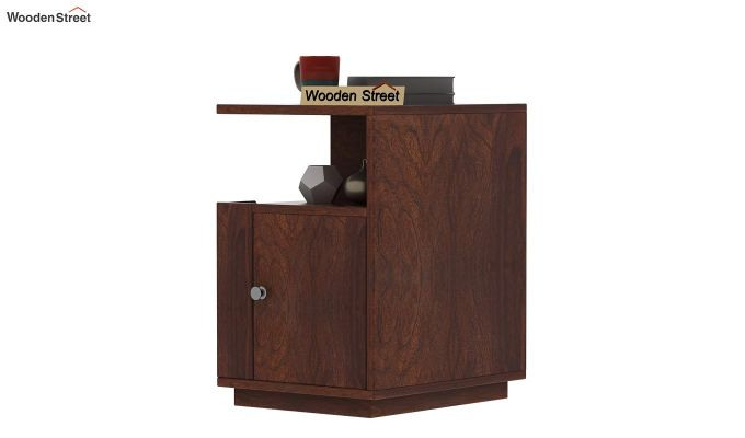 Gruzis Side End Table (Walnut Finish)-3