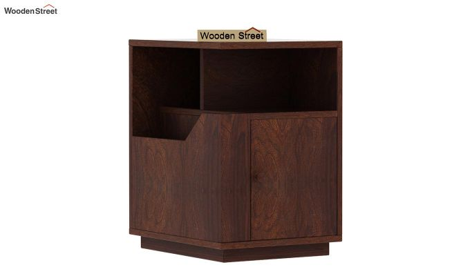 Gruzis Side End Table (Walnut Finish)-4