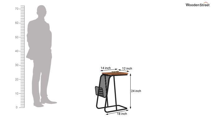 Hook End Table (Teak Finish)-6