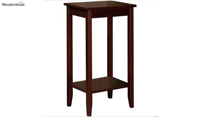 Janus Tall End Table (Mahogany Finish)-2