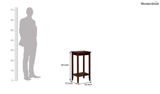Janus Tall End Table (Mahogany Finish)-3