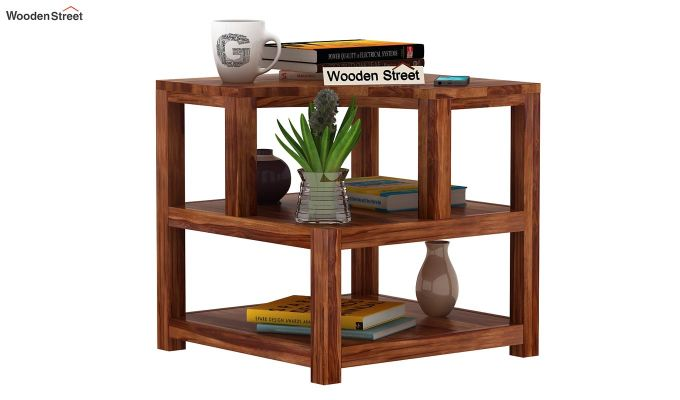 Legion Chair Side End Table (Teak Finish)-1