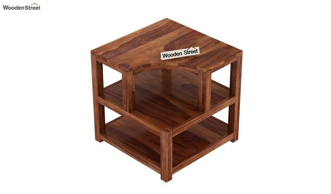 Legion Chair Side End Table (Teak Finish)-4