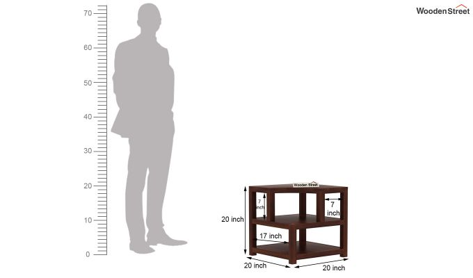 Legion Chair Side End Table (Walnut Finish)-6