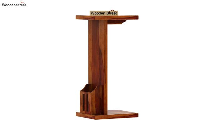 Libby Chair Side End Table (Honey Finish)-3