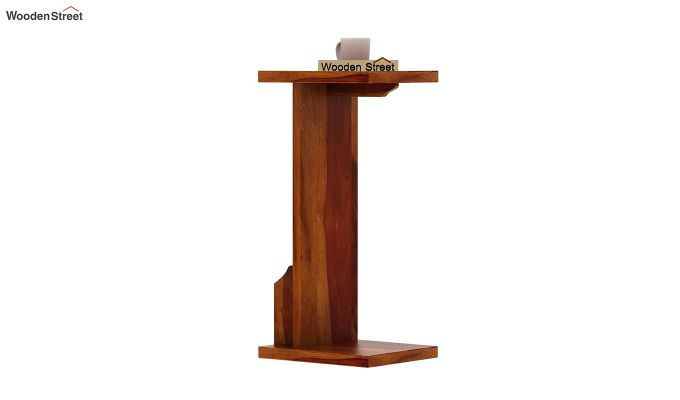 Libby Chair Side End Table (Honey Finish)-4