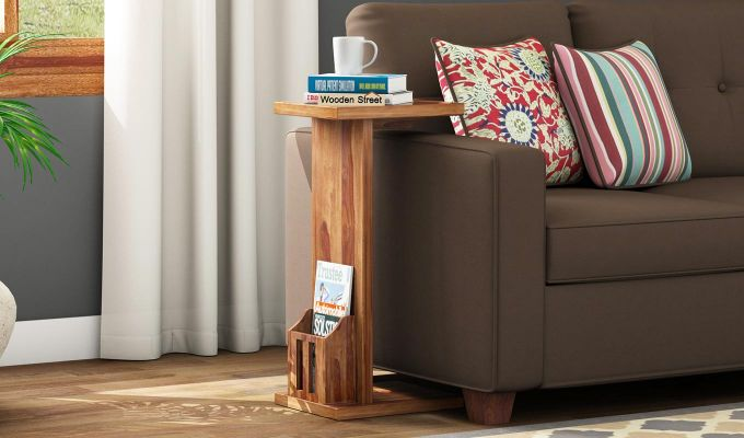 Libby Chair Side End Table (Teak Finish)-1