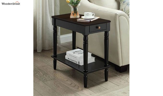 Maddox Chair Side Table (Black Finish)-1