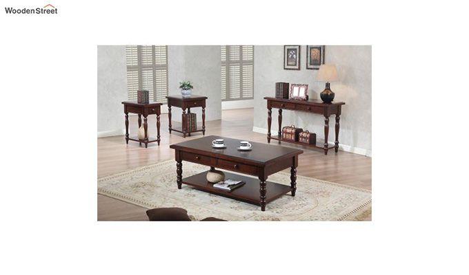 Minerva Drawer End Table (Walnut Finish)-2