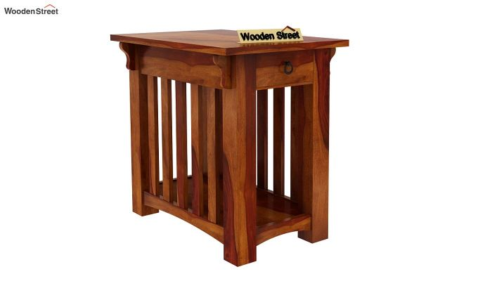Nord Chair Side End Table (Honey Finish)-2