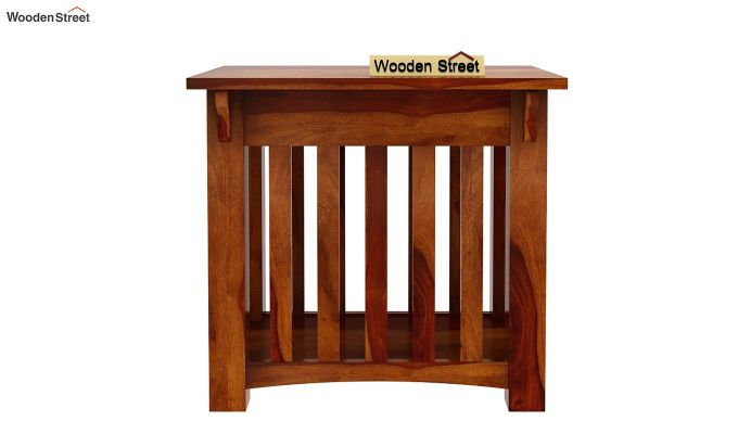 Nord Chair Side End Table (Honey Finish)-3