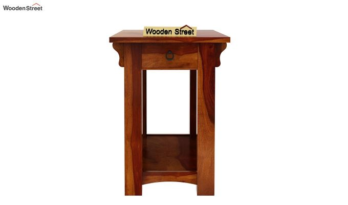 Nord Chair Side End Table (Honey Finish)-4