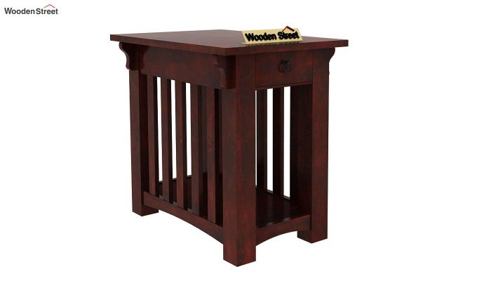 Nord Chair Side End Table (Mahogany Finish)-1