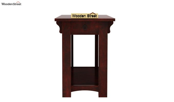Nord Chair Side End Table (Mahogany Finish)-3