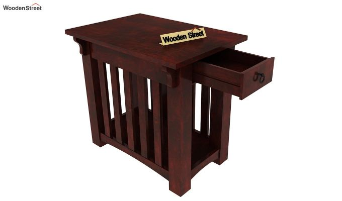 Nord Chair Side End Table (Mahogany Finish)-4