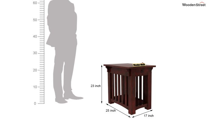 Nord Chair Side End Table (Mahogany Finish)-5
