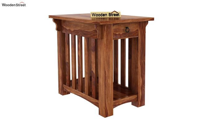 Nord Chair Side End Table (Teak Finish)-1