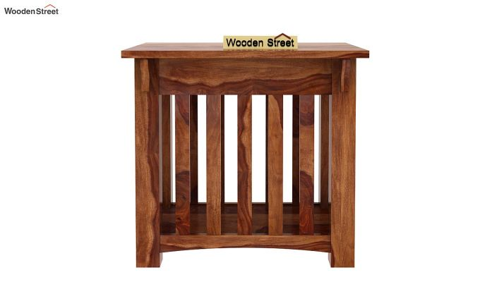 Nord Chair Side End Table (Teak Finish)-2
