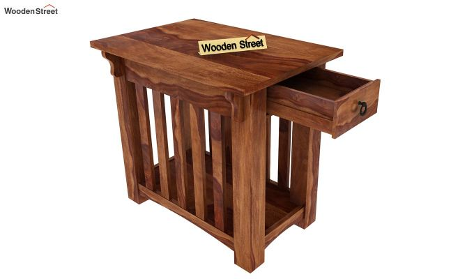 Nord Chair Side End Table (Teak Finish)-4