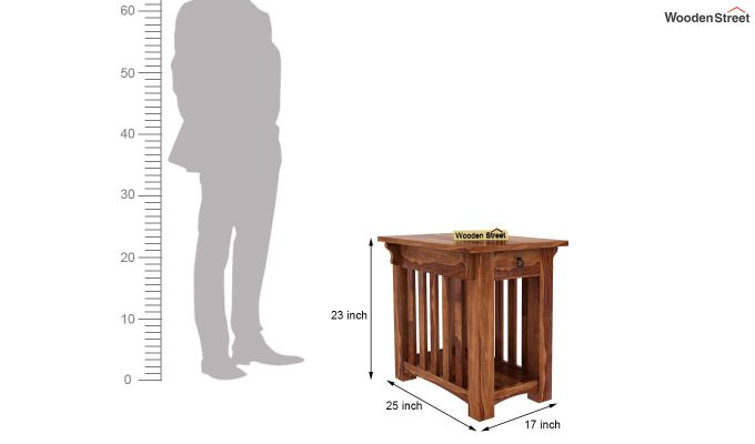 Nord Chair Side End Table (Teak Finish)-5