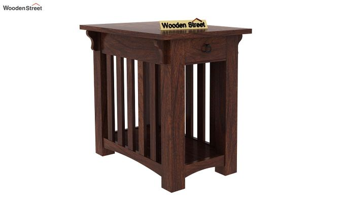 Nord Chair Side End Table (Walnut Finish)-1
