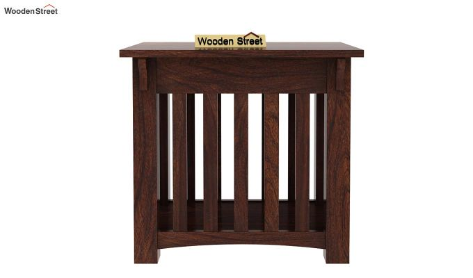 Nord Chair Side End Table (Walnut Finish)-2