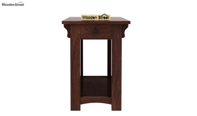 Nord Chair Side End Table (Walnut Finish)-3