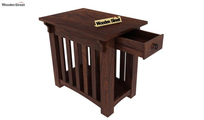 Nord Chair Side End Table (Walnut Finish)-4