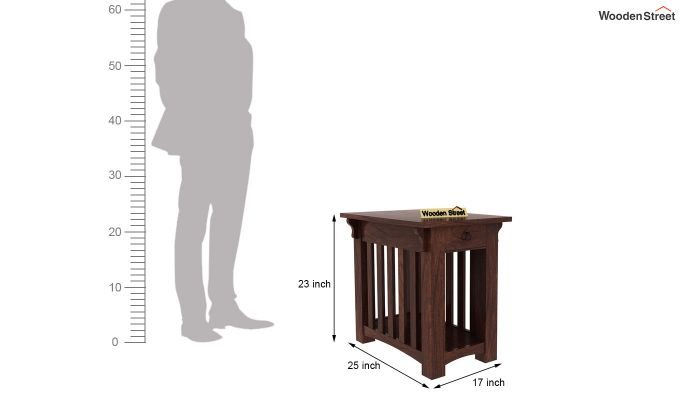 Nord Chair Side End Table (Walnut Finish)-5