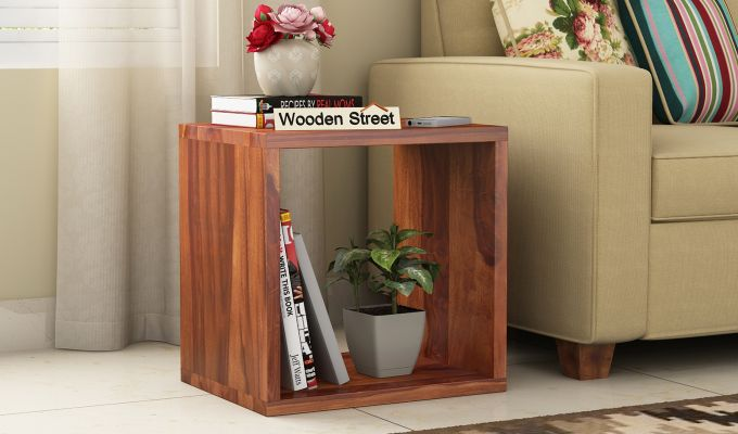 Norma Side End Table (Honey Finish)-1