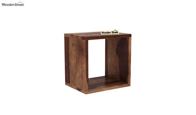 Norma Side End Table (Teak Finish)-2
